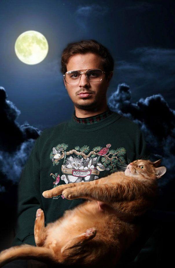 Hommes célibataires avec des chats unique